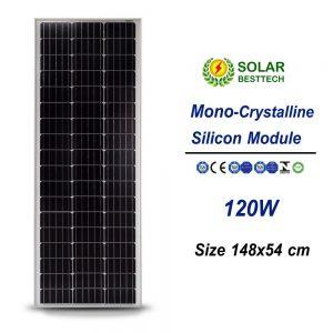 แผงโซล่าเซลล์ Solar Panel Mono Crystalline 120W