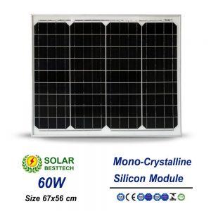 แผงโซล่าเซลล์ Solar Panel Mono Crystalline 60W